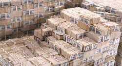 One billion dollars. Buying Salesforce would take about 60 of these piles.