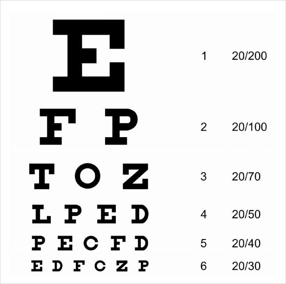 Snellen Eye Chart Template Beagle Research Group Llc