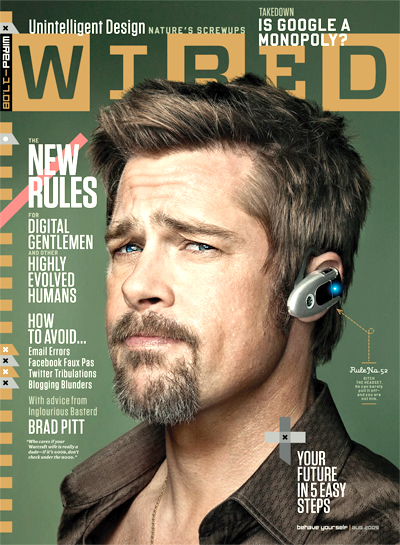 Brad Pitt on The Cover of The Magazine Wired